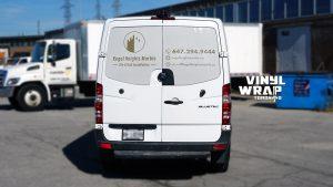 Mercedes Sprinter Bluetec 2015 - Vinyl WrapToronto.com - Vehicle Decals - Vinyl Wrap Toronto - Promotional - Back - Van decals cost