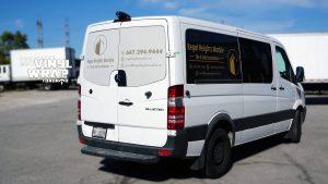 Mercedes Sprinter Bluetec 2015 - Vinyl WrapToronto.com - Vehicle Decals - Vinyl Wrap Toronto - Promotional - Side Back - Van decals in GTA