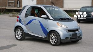 Smart Car ForTwo - 2008 - Vehicle Decals - Personal - After - Front Side - Custom Car decals near me