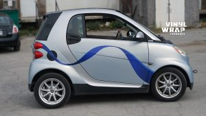 Smart Car ForTwo - 2008 - Vehicle Decals - Personal - After - Side - Custom car decals - Avery and 3M Vinyl