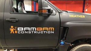 bambam Construction - Truck Decals - Truck Lettering in GTA - VinylWrapToronto.com - Vehicle Wrap in Toronto - Vinyl Wrap Toronto - Custom wrap and decals in GTA