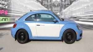 Volkswagen Beetle - Full Wrap - Personal - Disney - Cinderella Theme - Avery Dennison - Vinyl Wrap Toronto - After - Side - Custom car wrap near me