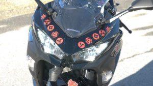 Motorcycle Decals Kawasaki Ninja 400 - VinylWrapToronto.com - Vehicle Wrap in GTA - Avery Dennison - 3M - headlight