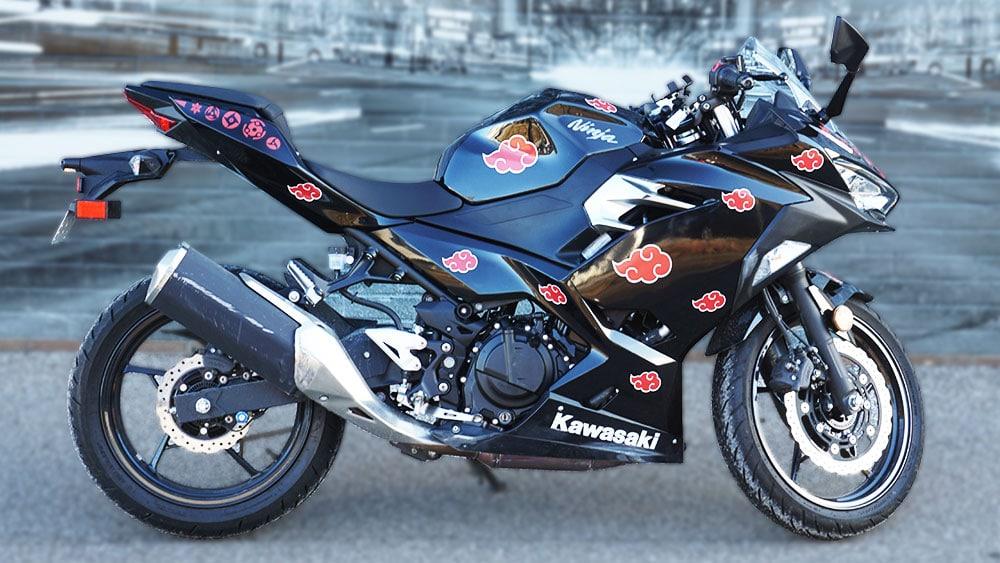 Motorcycle Naruto Decals Kawasaki Ninja 400 - VinylWrapToronto.com - Vehicle Wrap in GTA - Avery Dennison - 3M - Side 2