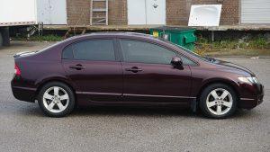 Honda Civic 2010 - Full Vinyl Wrap - After Side - Custom Avery and 3M car wrap near me