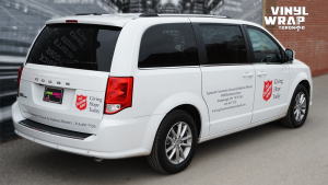 Dodge Caravan 2020 - Commercial Van Decals - VinylWrapToronto.com - The Salvation Army - Vinyl Stickers - Back Side