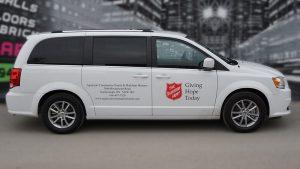 Dodge Caravan 2020 - Commercial Van Decals - VinylWrapToronto.com - The Salvation Army - Vinyl Stickers - Side