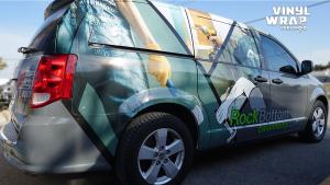 Dodge Caravan - Custom Full Van Wrap - Vinyl Wrap Toronto - Avery Dennison - Side Closeup