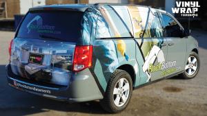 Dodge Caravan - Custom Full Van Wrap - VinylWrapToronto.com - Avery Dennison - Lettering & Decals - Best Car Wrap in Toronto - Back Side