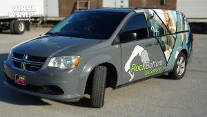 Dodge Caravan - Custom Full Van Wrap - VinylWrapToronto.com - Avery Dennison - Lettering & Decals - Best Car Wrap in Toronto - Side Front