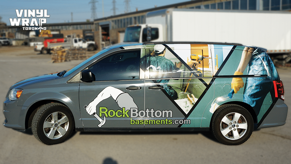 Dodge Caravan - Custom Full Van Wrap - VinylWrapToronto.com - Avery Dennison - Lettering & Decals - Best Car Wrap in Toronto - Side