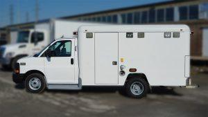 HepCURE - Chevrolet Ambulance - VinylWrapToronto.com - Custom Full Vinyl Wrap - Avery Dennison - Before - Custom Vinyl Wraps