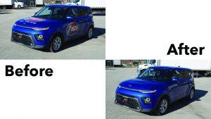 Kia Soul 2019 - Vinyl Wrap Removal - Unwrap - VinylWrapToronto.com - Decal - Best Car Wrap In Toronto
