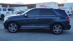 Mercedes GLE 350D - VinylWrapToronto.com - Racing Stripes - Vehicle Wrap - Decals - Car Wrap in Toronto - After Side 2