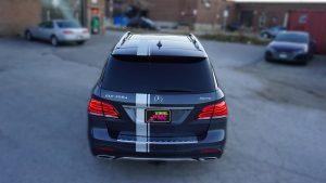 Mercedes GLE 350D - VinylWrapToronto.com - Racing Stripes - Vehicle Wrap - Decals - Car Wrap in Toronto - Back