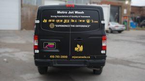 Nissan NV2500 - VinylWrapToronto.com - Full Wrap - Van Wrap - Decals - Lettering - Metro Jet Wash - Avery - After - Back
