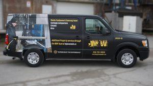 Nissan NV2500 - VinylWrapToronto.com - Full Wrap - Van Wrap - Decals - Lettering - Metro Jet Wash - Avery - After - Side