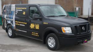 Nissan NV2500 - VinylWrapToronto.com - Full Wrap - Van Wrap - Decals - Lettering - Metro Jet Wash - Avery - After - Side Front 2