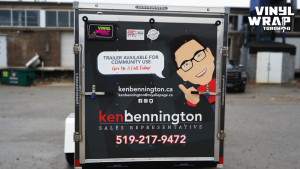 Trailer Full Wrap - VinylWrapToronto.com - Custom Design - Avery Dennison - Ken Bennington - Best Vehicle Wraps in Toronto - Back - Real Estate