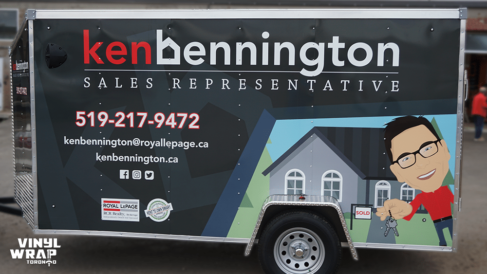 Trailer Full Wrap - VinylWrapToronto.com - Custom Design - Avery Dennison - Ken Bennington - Best Vehicle Wraps in Toronto - Side - Real Estate 1