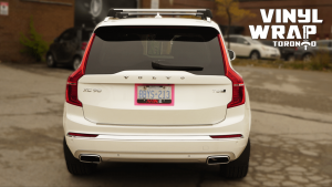 Volvo XC90 - Hot Pink Decals - Racing Stripes - Avery Dennison - Lettering & Decals - Best Car Wrap in Toronto - Vinyl Wrap Toronto - Back