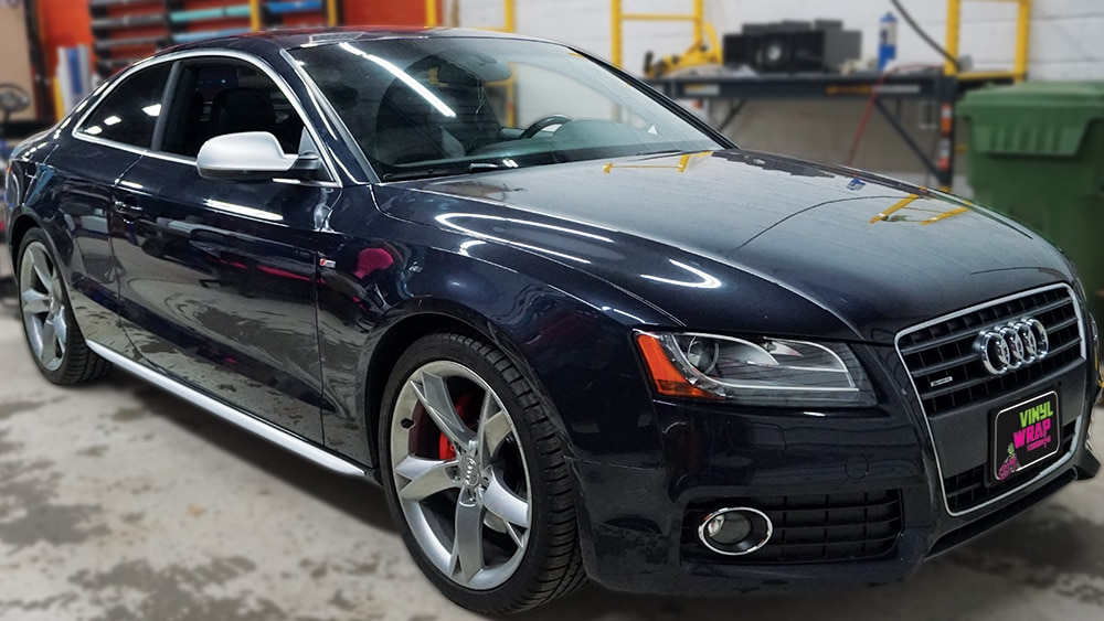 Audi A5 - Vinyl Decals - VinylWrapToronto.com - Best Vehicle Wrap in Toronto - After - Front Side
