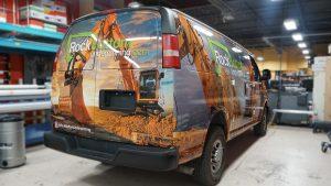 Chevrolet Express 2010 - VinylWrapToronto.com - Full Van Wrap - RockBottom Cosntuction - Custom Vehicle Wrap - Avery Dennison - Back Side 2