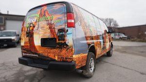 Chevrolet Express 2010 - VinylWrapToronto.com - Full Van Wrap - RockBottom Cosntuction - Custom Vehicle Wrap - Avery Dennison - Back Side