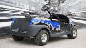 Clubcar - Golf Cart - Full Vinyl Wrap - Custom Design - VinylWrapToronto.com - Best Vehicle Wrap In Toronto - Avery Dennison - After - Back Side