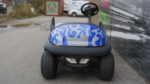 Clubcar - Golf Cart - Full Vinyl Wrap - Custom Design - VinylWrapToronto.com - Best Vehicle Wrap In Toronto - Avery Dennison - After - Front