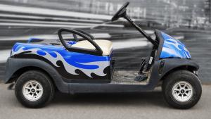 Clubcar - Golf Cart - Full Vinyl Wrap - Custom Design - VinylWrapToronto.com - Best Vehicle Wrap In Toronto - Avery Dennison - After - Side