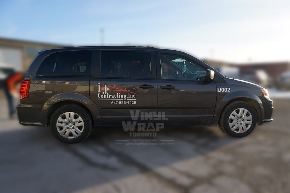 Dodge Caravan - Van Decals & Lettering - VinylWrapToronto.com - Avery Dennison - Best Vehicle Wrap in Toronto - Best Car Wrap Shop - Side 2