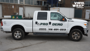Ford F-250 Commercial Truck Decals and Lettering - VinylWrapToronto.com - Vehicle Wrap in Toronto - Avery Dennison - After - Side