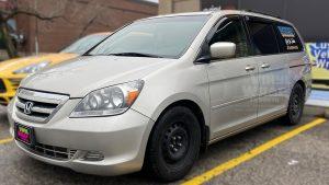 Honda Odyssey Minivan Van Decals - Commercial - Promotional - Avery Dennison - VinylWrapToronto.com - After - Front Side - Decals for cars