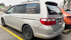 Honda Odyssey Minivan Van Decals - Commercial - Promotional - Avery Dennison - VinylWrapToronto.com - After - Side - custom decals for cars