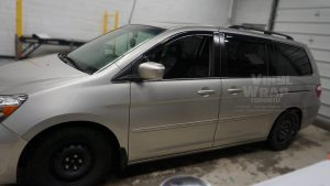 Honda Odyssey Minivan Van Decals - Commercial - Promotional - Avery Dennison - VinylWrapToronto.com - Before - Side - Decals for cars