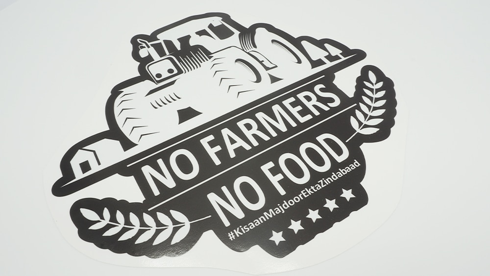 No Farmers No Food Stickers For FREE - Vehicle Decals - VinylWrapToronto.com - Free Stickers