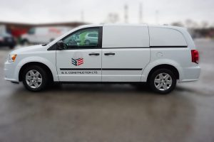 Dodge Caravan - Van Decals - Vehicle Decals - VinylWrapToronto.com - B&E Construction - Side