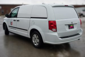 Dodge Caravan - Van Decals - Vehicle Decals - VinylWrapToronto.com - B&E Construction - side back