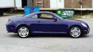 Lexus SC430 - Full Wrap - Glossy Indigo - Vinyl Wrap Toronto - VinylWrapToronto.com - Side