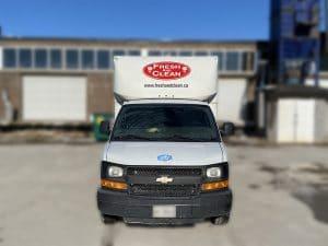 Chevrolet Cube Truck - Fresh & Clean - Fleet Lettering & Decals - VinylWrapToronto.com - Avery Dennison - Front
