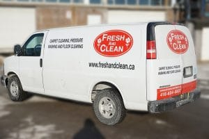Chevrolet Express - Fresh & Clean - Fleet Lettering & Decals - VinylWrapToronto.com - Avery Dennison - Back Side