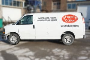Chevrolet Express - Fresh & Clean - Fleet Lettering & Decals - VinylWrapToronto.com - Avery Dennison - Side