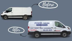 Ford Transit 150 XLT 2019 - Commercial Van Decals and Lettering - VinylWrapToronto.com - Avery Dennison - Cover - Vehicle Wrap