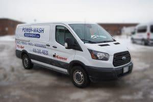 Ford Transit 150 XLT 2019 - Commercial Van Decals and Lettering - VinylWrapToronto.com - Avery Dennison - Front Side 2