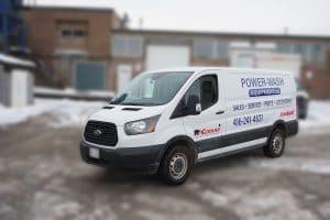 Ford Transit 150 XLT 2019 - Commercial Van Decals and Lettering - VinylWrapToronto.com - Avery Dennison - Front Side