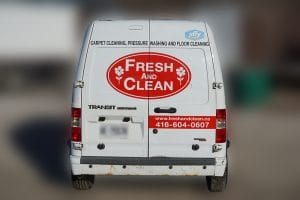 Ford Transit - Fresh & Clean - Fleet Lettering & Decals - VinylWrapToronto.com - Avery Dennison - Back
