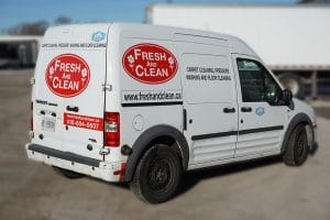 Ford Transit - Fresh & Clean - Fleet Lettering & Decals - VinylWrapToronto.com - Avery Dennison - Side