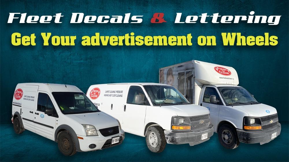 Fresh Clean Fleet Decals Lettering Vinyl Wrap Toronto Avery Dennison Best Vehicle Wrap in Toronto