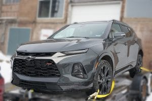 Chevy Blazer 2019 - Full Vehicle Wrap - Colour Change - University of Waterloo - VinylWrapToronto.com - Vinyl Wrap Toronto - Before
